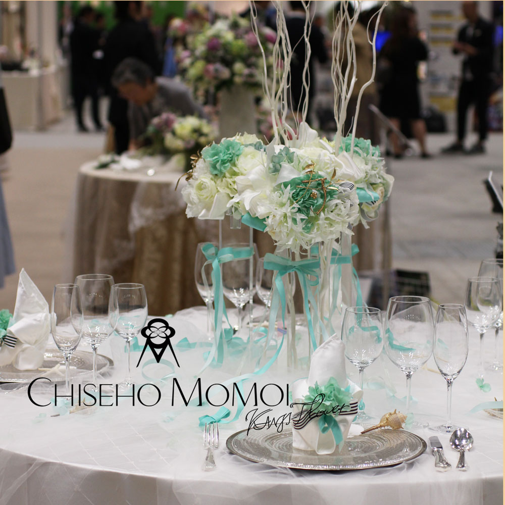 Bridal Industry Fair 2019 table coordinate~moji-flower