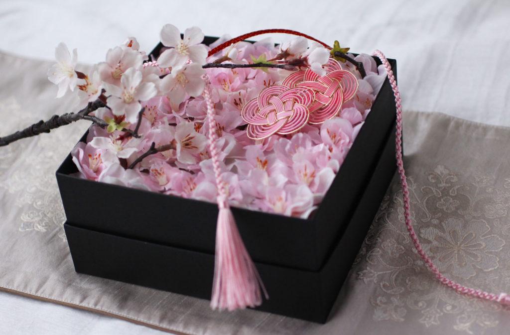 桜のボックスアレンジメント画像